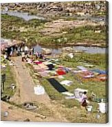 Hampi Bathing Ghats Acrylic Print
