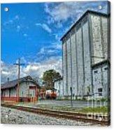 Hampstead Train Station And Grain Mill Acrylic Print