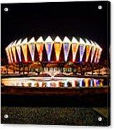 Hampton Coliseum Christmas Acrylic Print