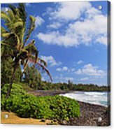 Hana Beach Acrylic Print by Inge Johnsson