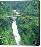 Hana Highway Waterfall Maui Hawaii Acrylic Print