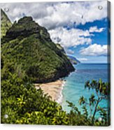 Hanakapiai Beach Acrylic Print