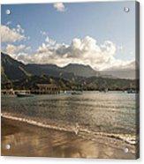 Hanalei Bay Pier - Kauai Hawaii Acrylic Print