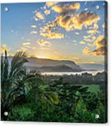 Hanalei Bay Sunset Acrylic Print