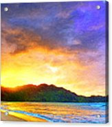 Hanalei Sunset Acrylic Print