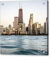 Hancock Building And Chicago Skyline Acrylic Print
