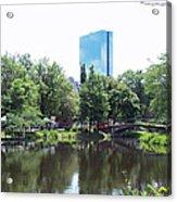 Hancock Building From Lagoon Acrylic Print