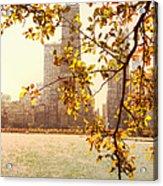 Hancock In Fall Acrylic Print