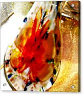 Hand Blown Glass Pendant Acrylic Print by Judy Paleologos