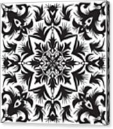 Hand Drawing Pattern For Tile In Black Acrylic Print