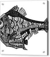 Hand Drawn Vector Illustration. Retro Acrylic Print
