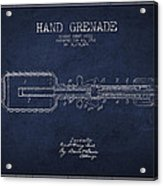 Hand Grenade Patent Drawing From 1916 Acrylic Print