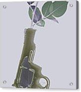 Hand Gun And Flower X-ray Series 1 Acrylic Print