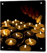 Hand Lighting Candles Acrylic Print