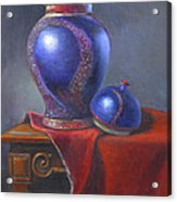 Hand Make Vase  Acrylic Print by Rich Kuhn