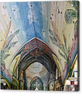 Hand Painted Church Interior Acrylic Print