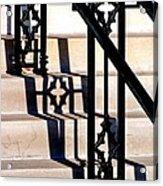 Hand Rail Shadows Acrylic Print