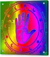 Hand Signs Acrylic Print