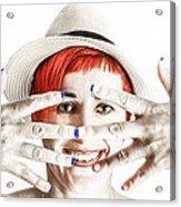 Hand Smile  Acrylic Print