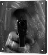 Handgun And Ammunition Acrylic Print