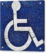 Handicapped Symbol Acrylic Print