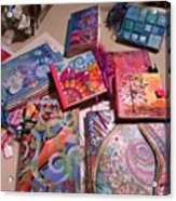 Handmade Journal Stash...#artjournal Acrylic Print