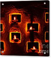 Handmade Oil Candles For Diwali Acrylic Print