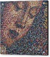 Handmade Wooden Easter Egg Mosaic Acrylic Print