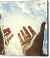 Hands In Sky Acrylic Print