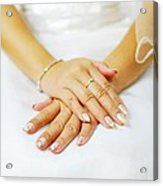 Hands In Waiting Acrylic Print