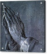 Hands Of An Apostle 1508 Acrylic Print by Philip Ralley