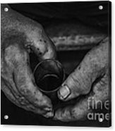 Hands Of An Worker Acrylic Print