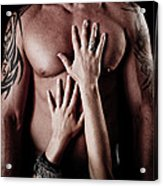 Hands On Him Acrylic Print by Jt PhotoDesign