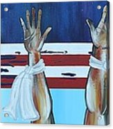 Hands Up Dont Shoot Acrylic Print