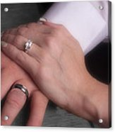 Hands With Wedding Rings Acrylic Print