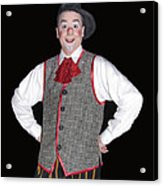 Handsome Clown At The Circus Acrylic Print