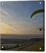 Hang Gliding At Dunstable Downs Acrylic Print