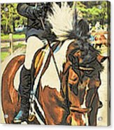 Hang On Tight To Your Painted Horse Acrylic Print