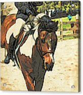 Hang On To Your Painted Horse Acrylic Print