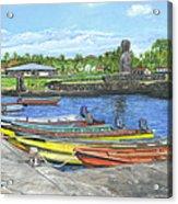 Hanga Roa Harbour Acrylic Print
