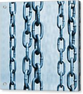 Hanged Chains Acrylic Print by Carlos Caetano