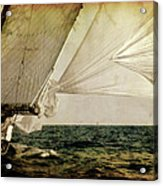 Hanged On Wind In A Mediterranean Vintage Tall Ship Race  Acrylic Print