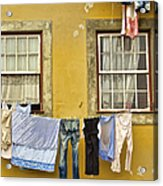 Hanging Clothes Of Old Europe II Acrylic Print