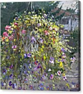 Hanging Flowers From Balcony Acrylic Print