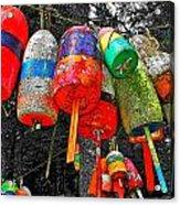 Hanging Lobster Buoys Acrylic Print