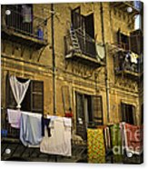 Hanging Out To Dry In Palermo  Acrylic Print