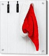 Hanging Santa Hat Acrylic Print by Amanda Elwell