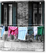 Hanging The Wash In Venice Italy Acrylic Print