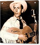 Hank Williams Sr. Acrylic Print by Pg Reproductions