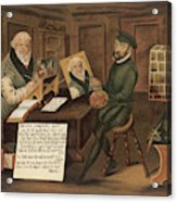 Hans Sachs  German Writer, Depicted Acrylic Print